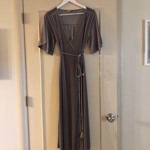 Zara Crossover Velvet Dress